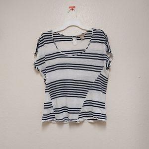 Lucky Brand stripe linen top